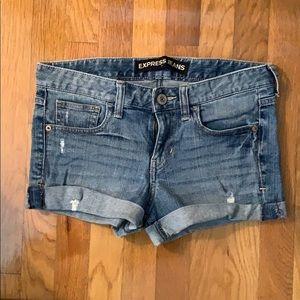 Express Jean Shorts - Light Wash